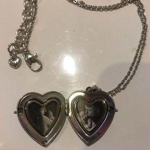 Brighton silver heart locket necklace